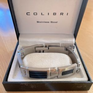 Calibre stainless steel bracelet and money clip